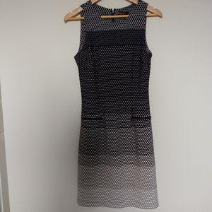 ILE NEW YORK navy white polka dot dress size 6